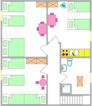Tloris apartma 8