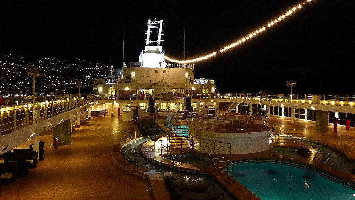Abends auf dem Schiff