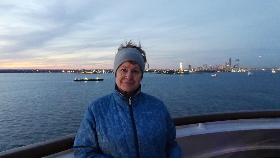 Ein letzter Blick zurück - langsam verschwindet Liberty Island