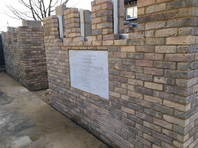 The foundation stone has returned to the hall 16.03.21
