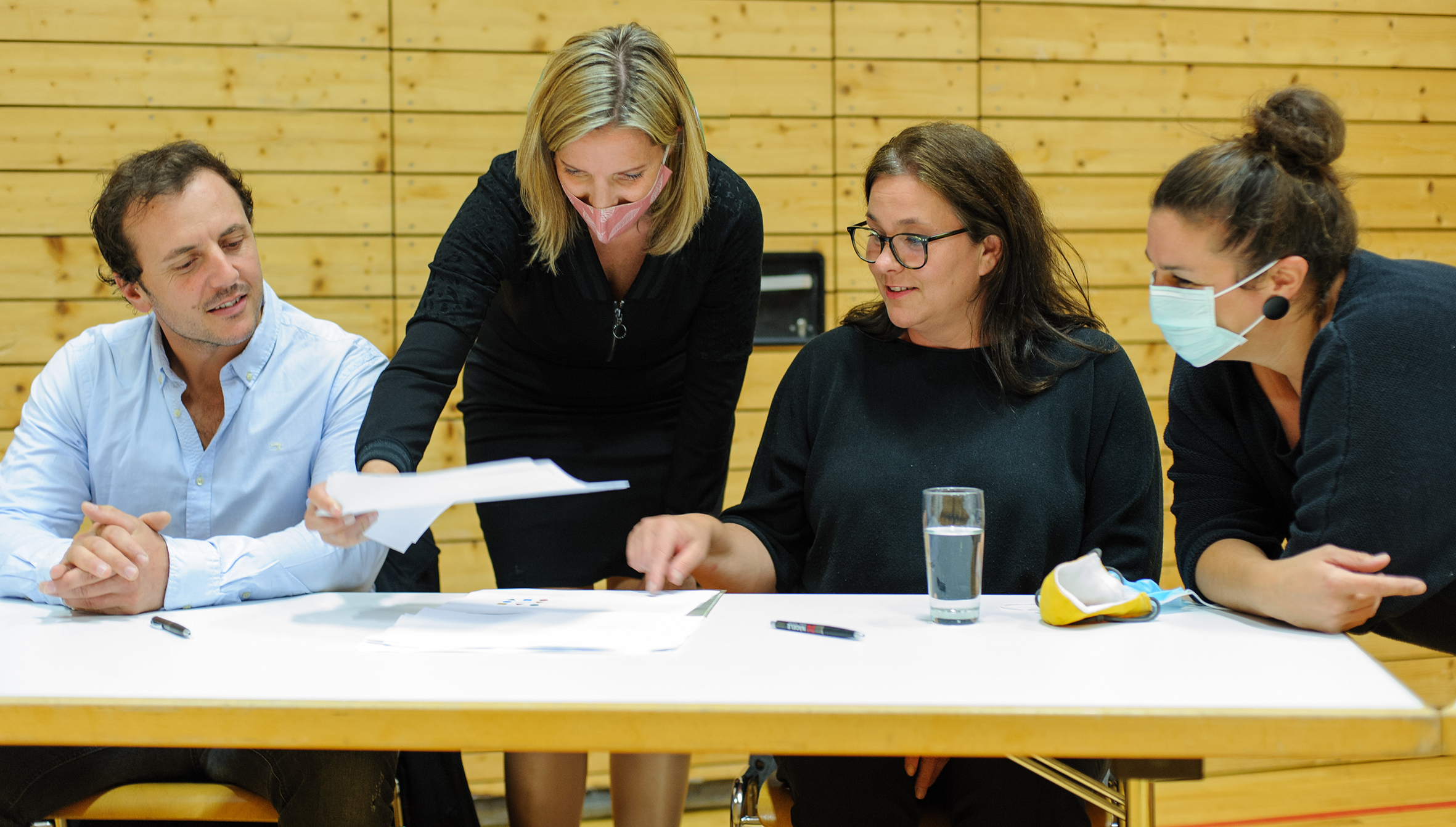 Mit den neuen GemeindvertreterInnen bei der konst. Sitzung 2020 (C:Wieseneder)