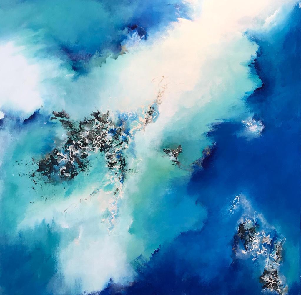 """""""Calypso"""" - H80x80 cm - Acrylic on canvas -"""