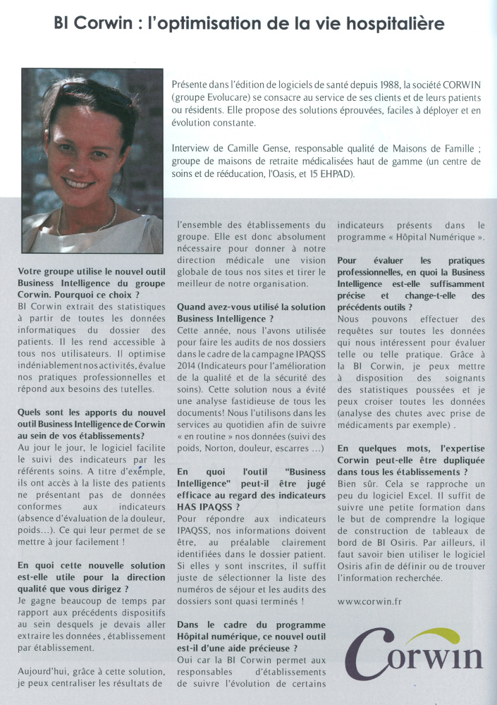 BI : Interview Maisons de Famille Regards de la FHP Oct-Nov 2014