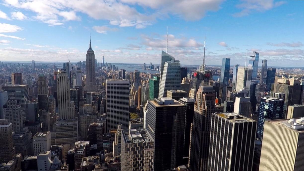 City mit dem Empire State Building