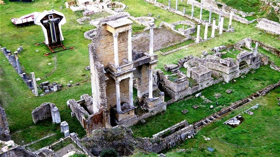 Detail des römischen Theaters