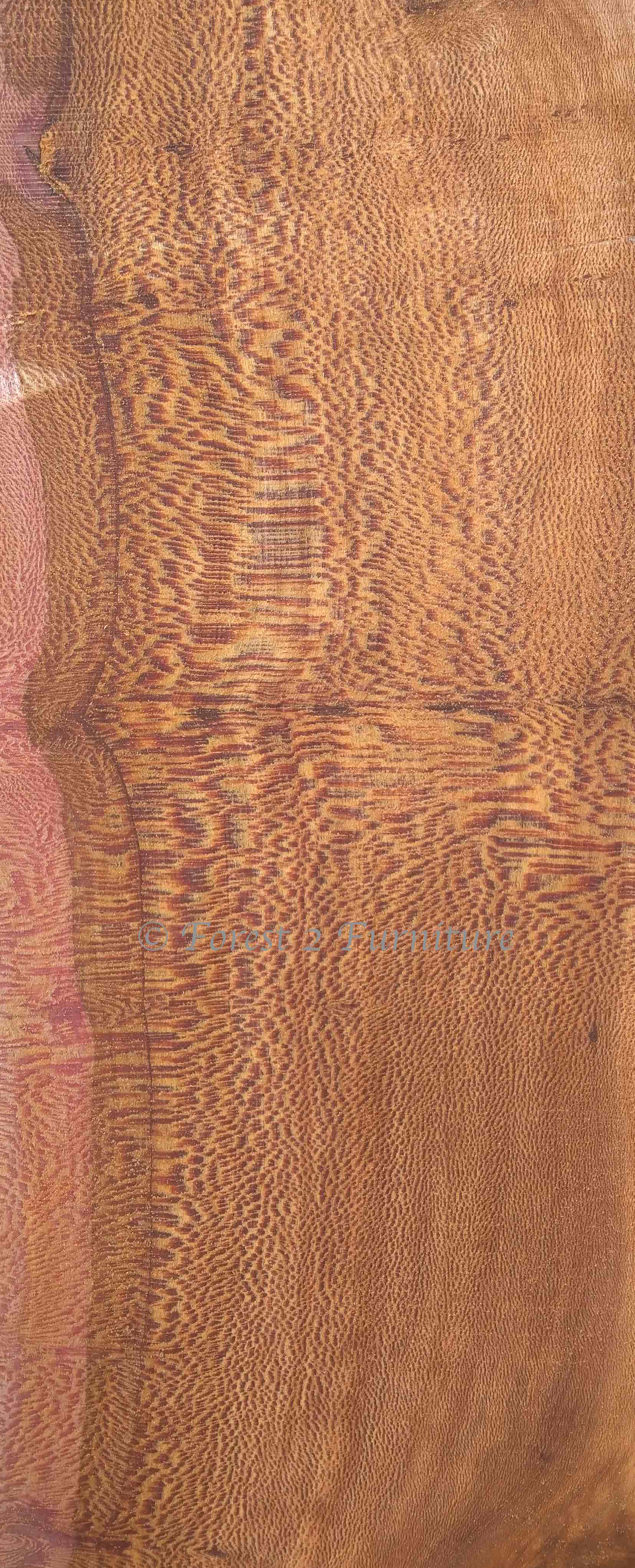 Turning the log creates figured boards known as Lacewood