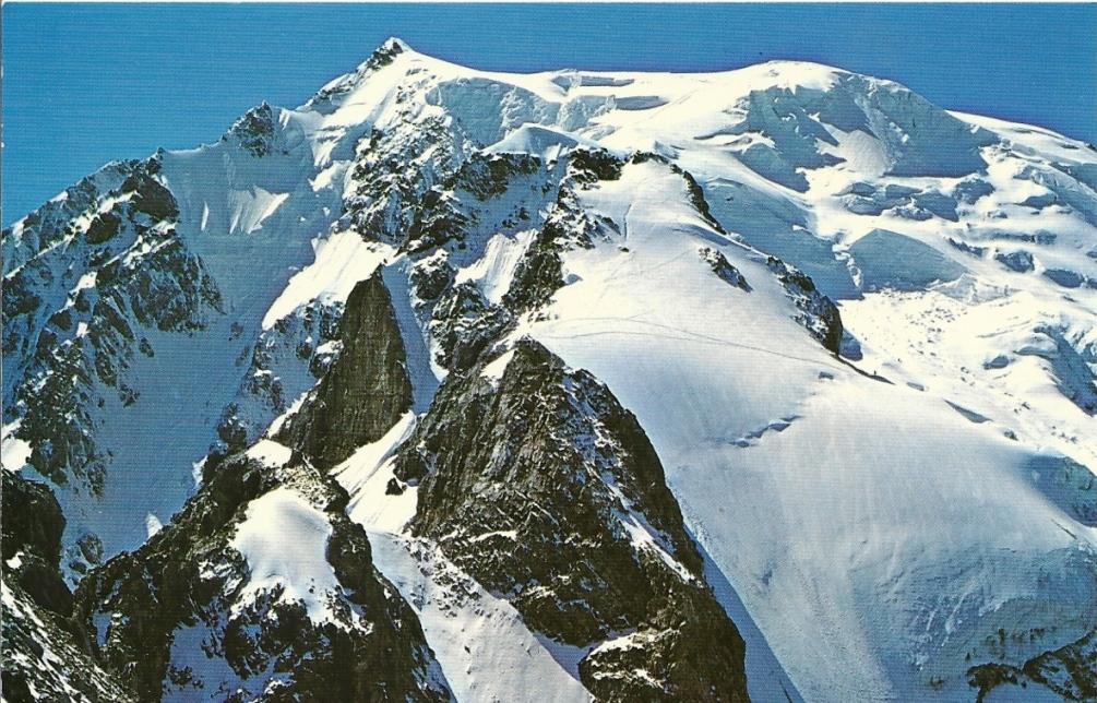 Blick auf die Abstiegsroute (Normalweg)