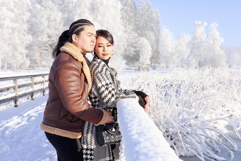Romantisches Winter Shooting am frisch  verschneiten Schwarzsee bei  Kitzbühel