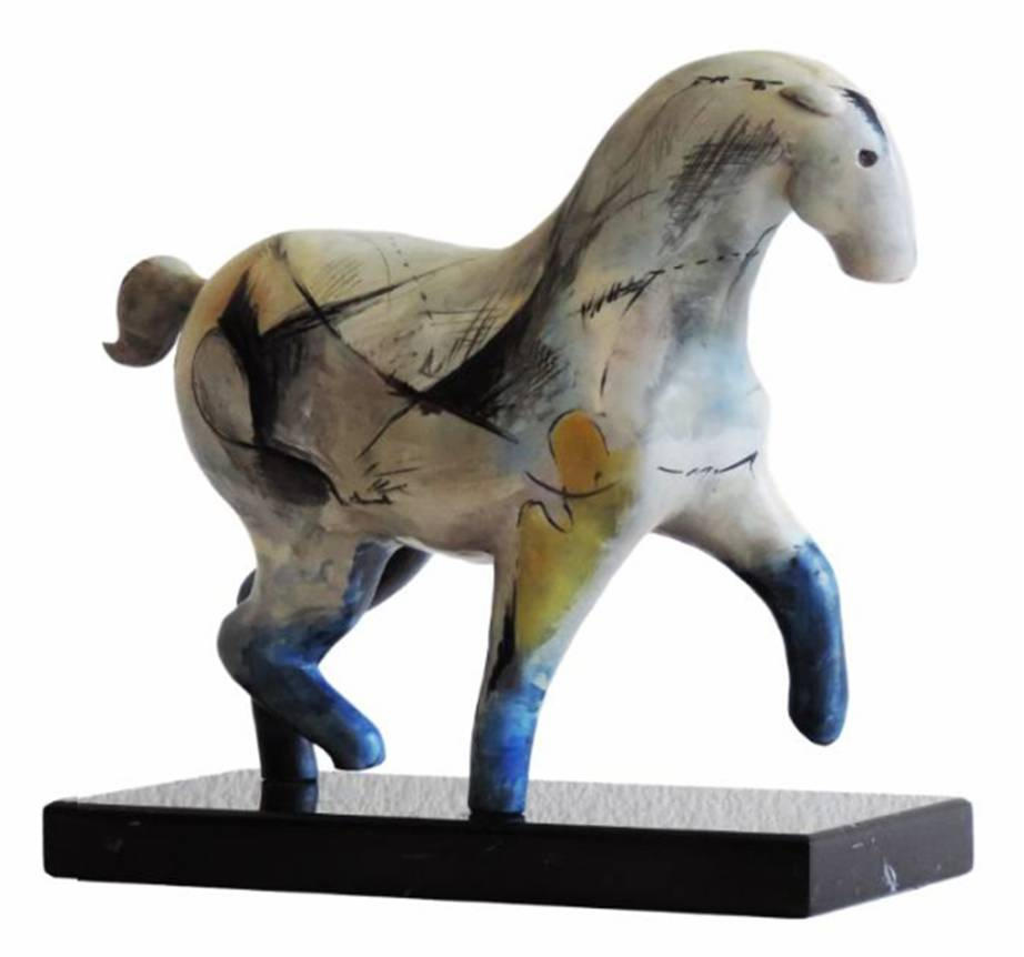 "SOLD ""Lunero"" Bronze patiné - H35x41x16cm"