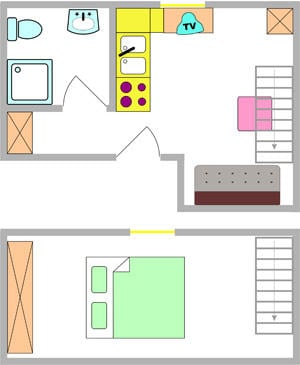 Tloris apartma 4