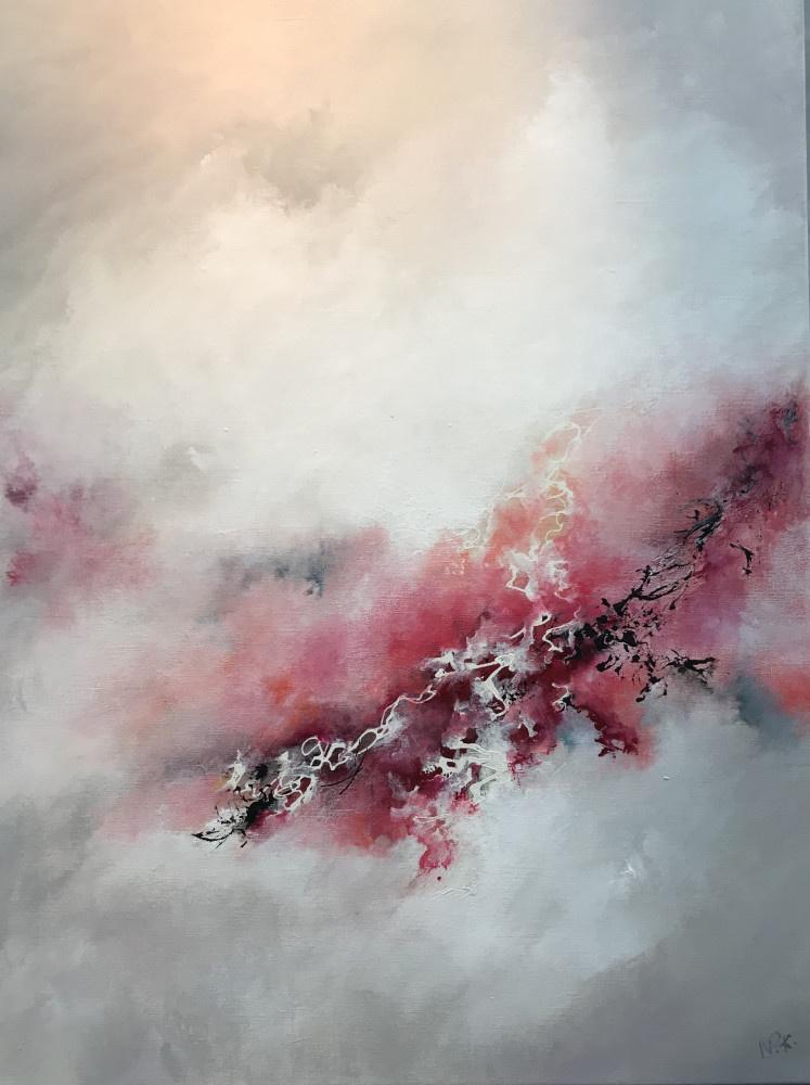 """""""La Lande aux Camélias"""" H80x60 cm - Acrylic on canvas -"""