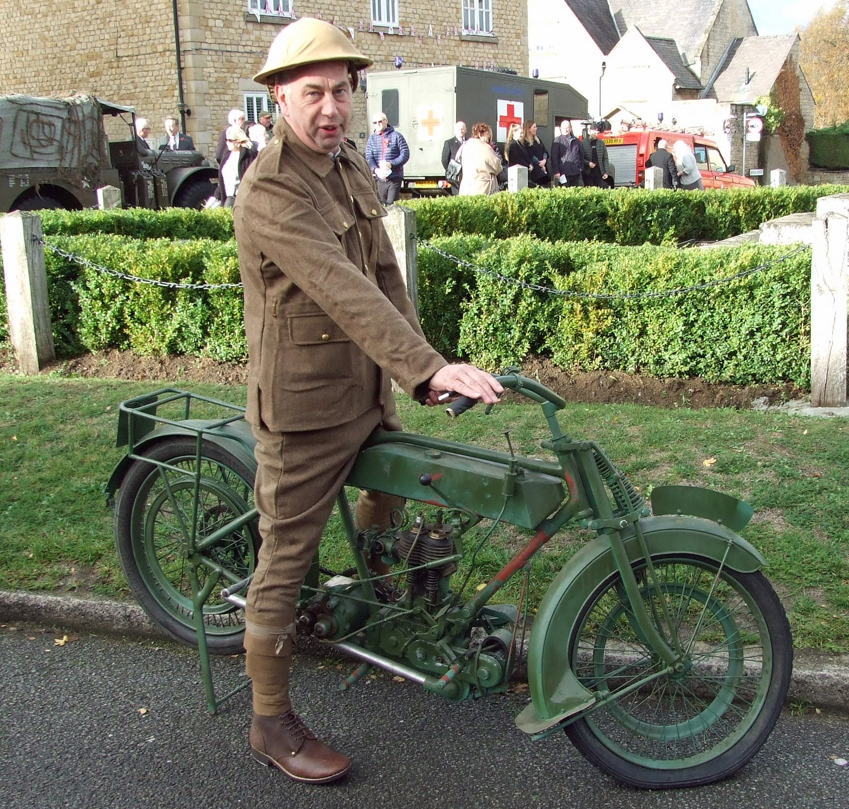 John Denney with his recently-acquired 1916 BSA