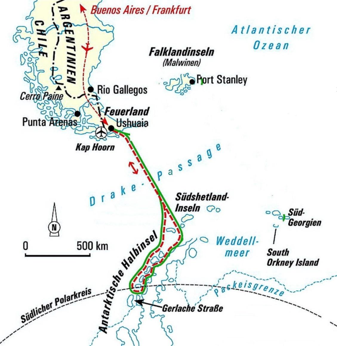 Drake Passage - 815 km durch stürmische See von Feuerland bis in die Antarktis !