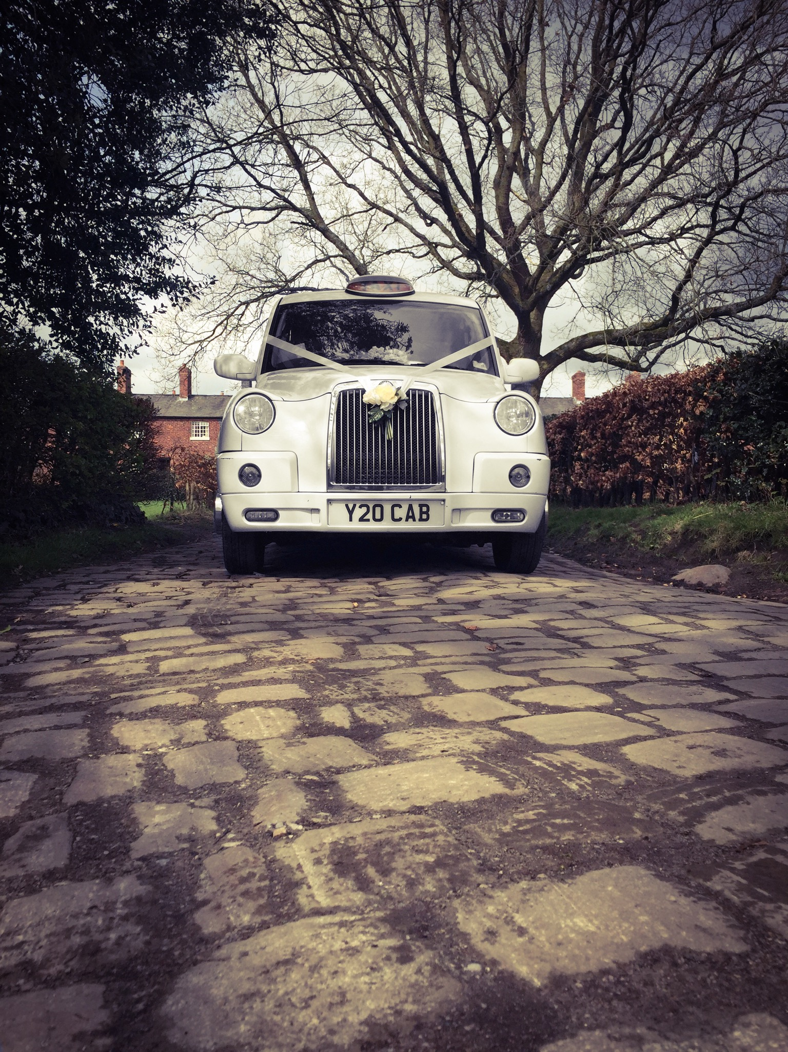 Norcliffe style wedding taxi
