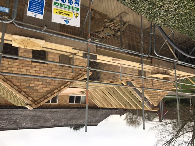 The roof structure is taking shape 31.03.21