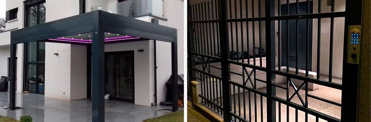 Métallerie : pergolas, portails, escaliers...