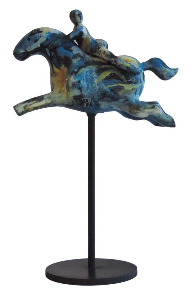 """""""A LA LUNA ME VOY"""" H48xL28x11 cm Hand painted Bronze - PU"""