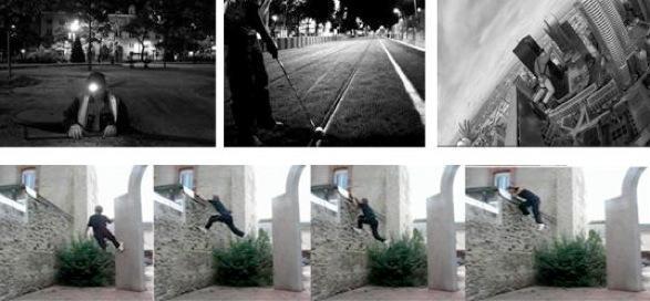Un spéléologue, un golfeur, un sauteur | A caver, a golfer, a jumper