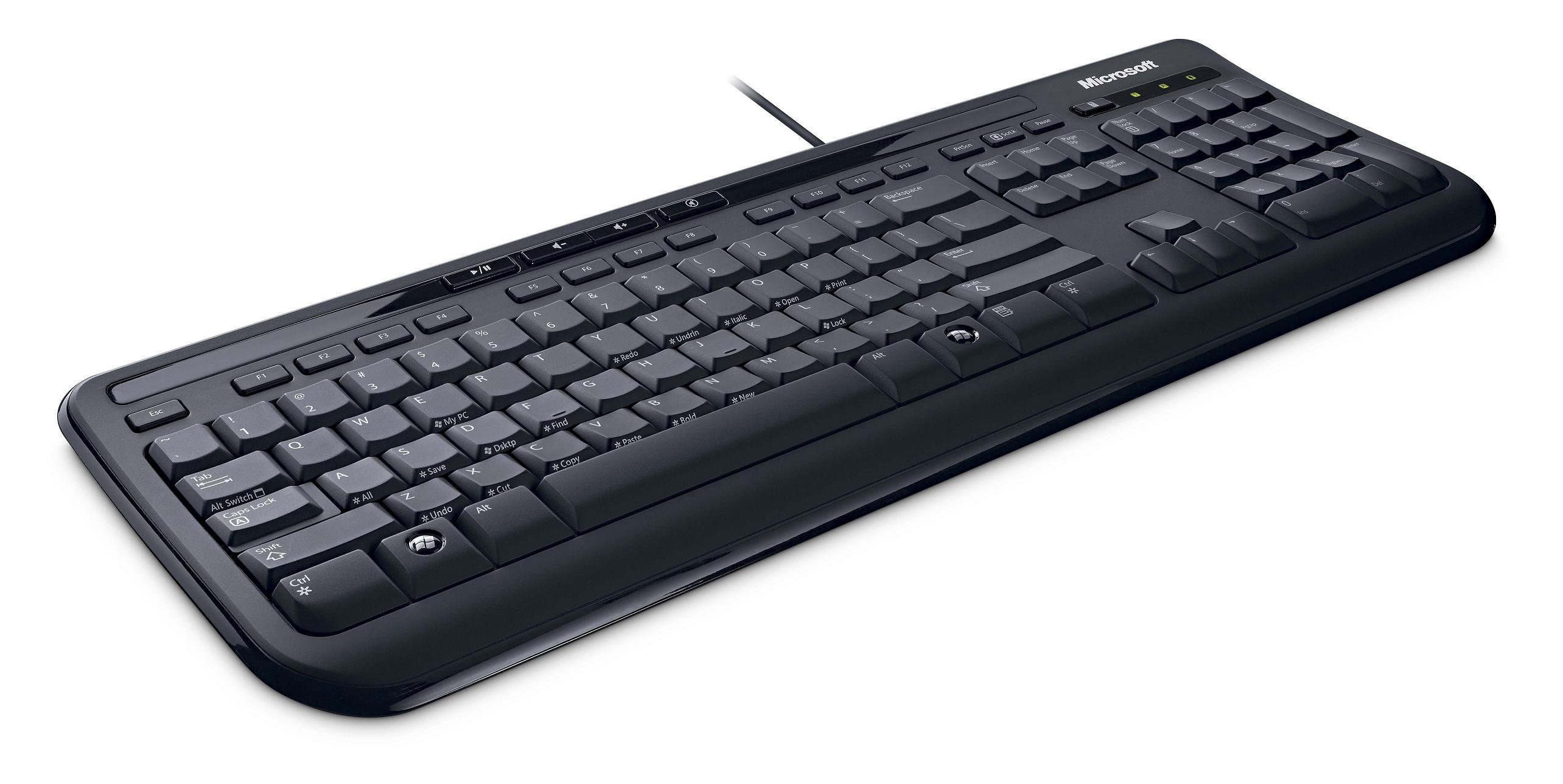 MICROSOFT Keyboard Wired 600, Black
