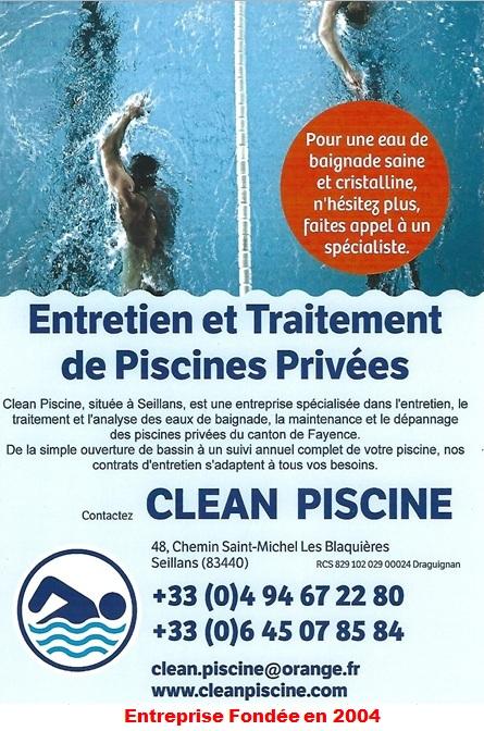 AA - Clean Piscine Entretien Fayence Seillans Montauroux Tourrettes Callian