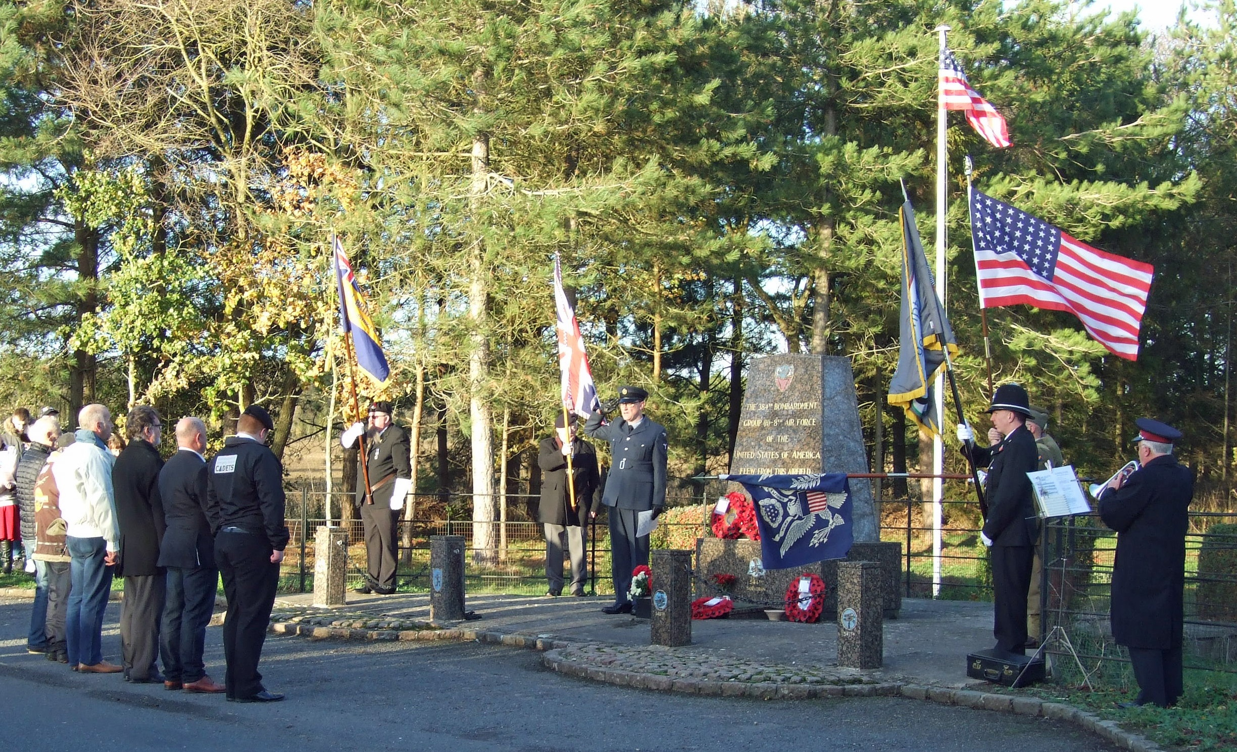Remembrance service at Grafton Underwood