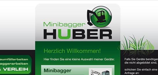 Minibagger Huber, Hochburg-Ach