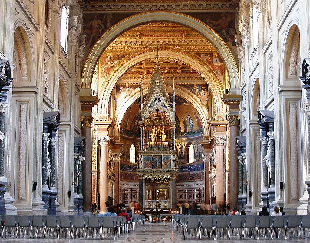 Viele Päpste sind hier begraben