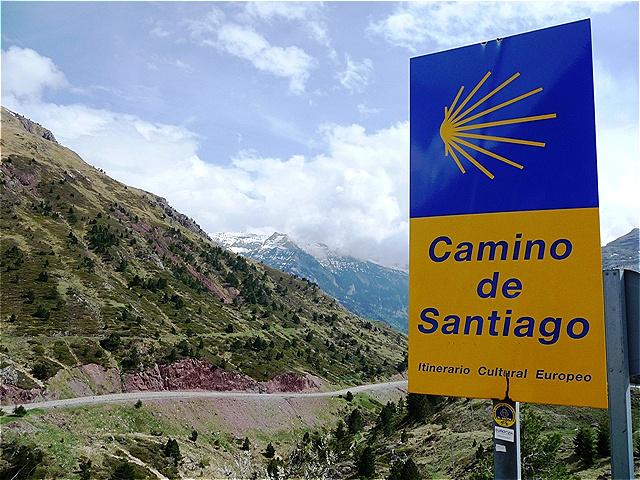 Auf dem Somport Pass 1.632 m- Pyrenäenübergang