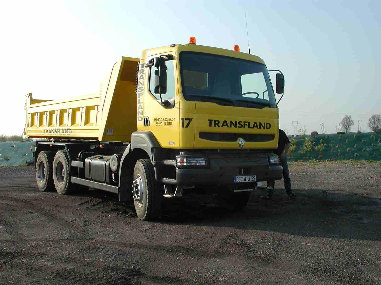 Transfland - Transport matériaux Bailleul - Porteur 6x4