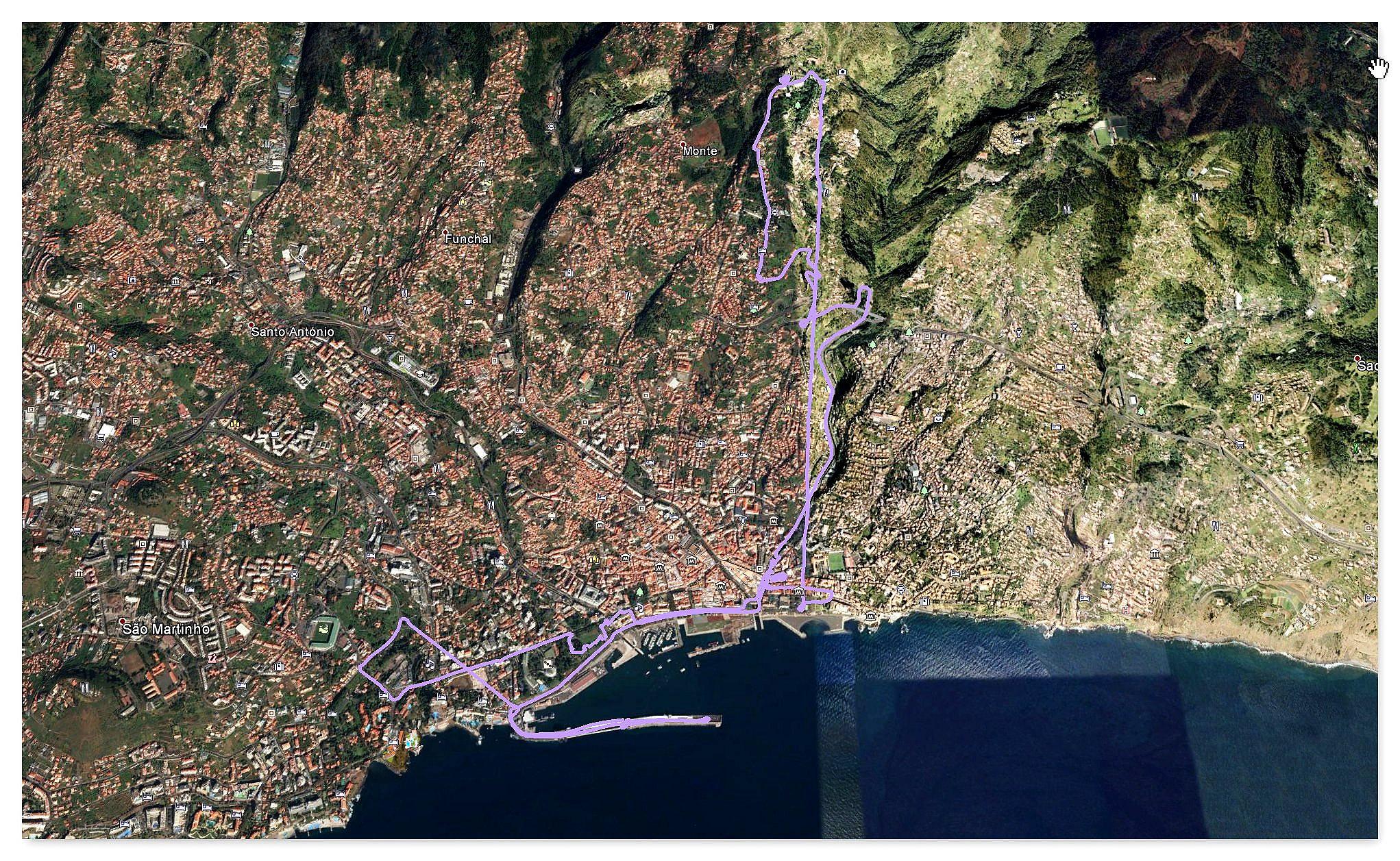 """Funchal mit dem """"Monte"""""""