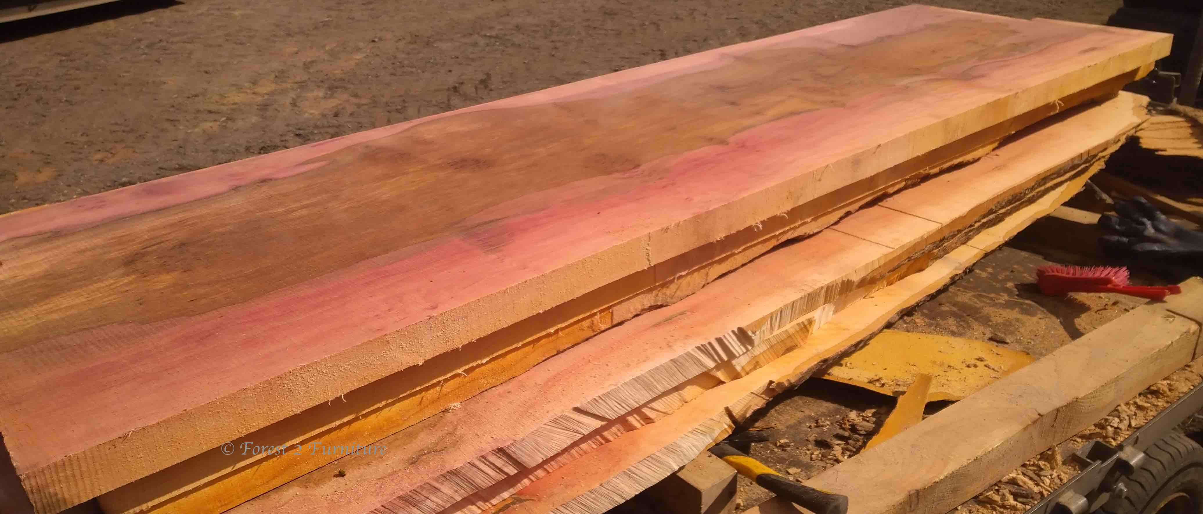 "Once dry these boards, which measure 2"" x 24"" x 8' will be perfect for table or work-surface tops"