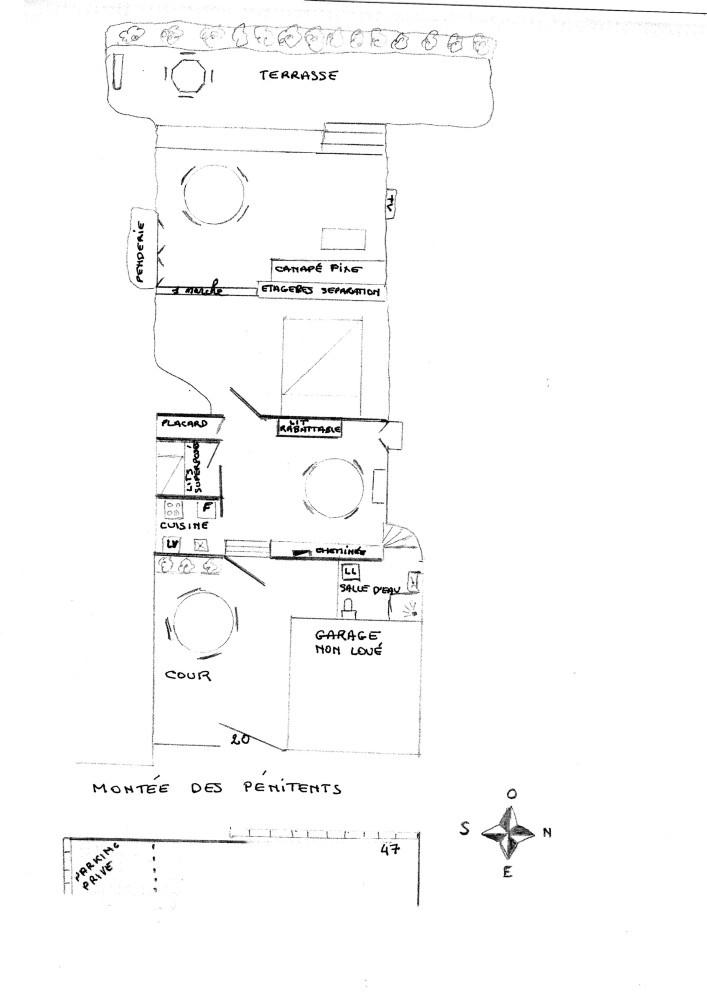 Plan d'aménagement de la maison troglodytique