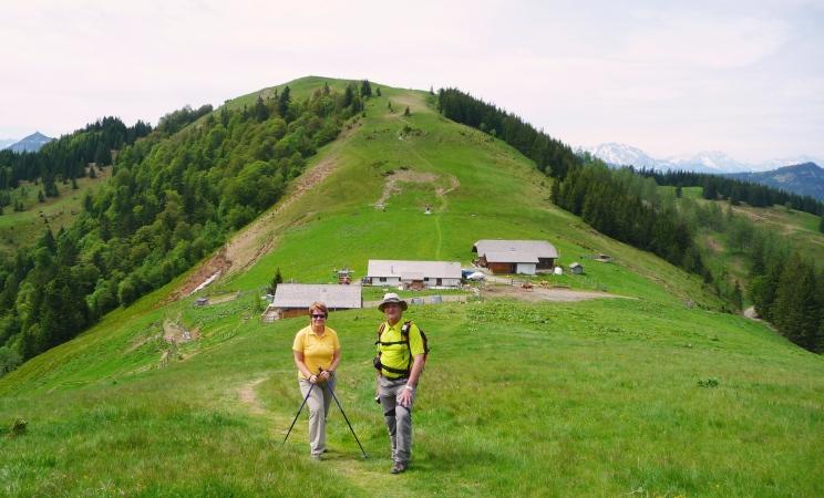 Schafberg - Alm In der Einsattelung stehen die Bergütten