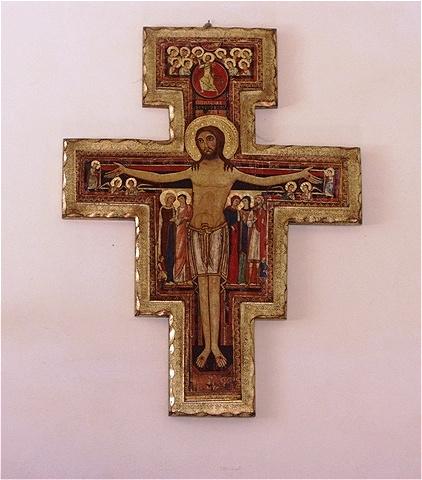 Franziskuskreuz im Inneren von La Verna