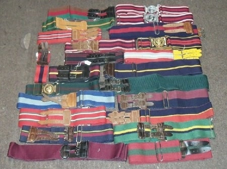 SELECTION OF BELTS
