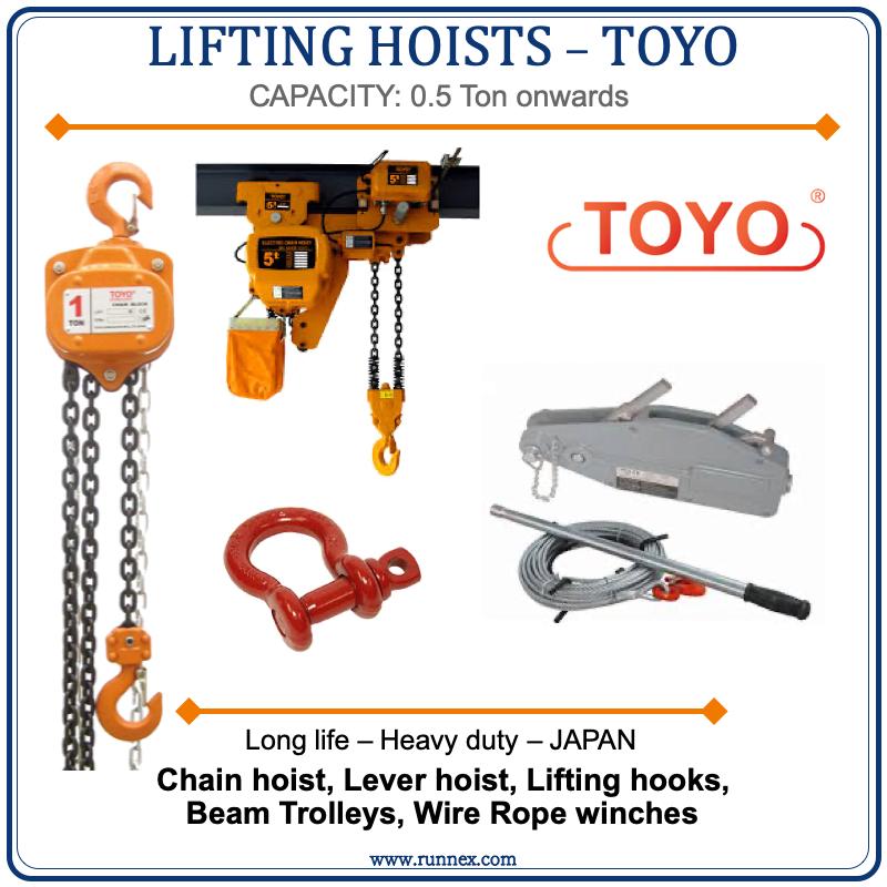 TOYO Lifting hoist and slings