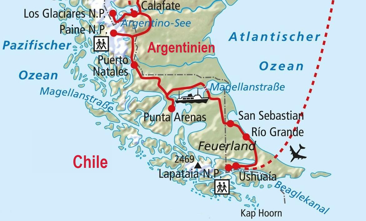Ushuaia-südlichste Stadt der Welt