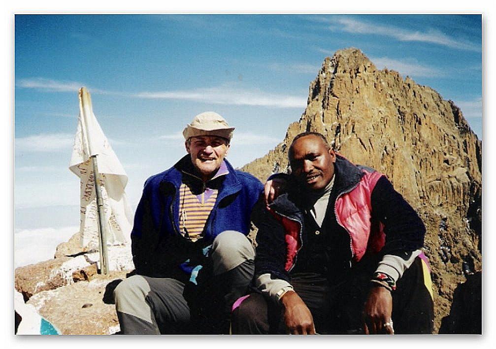 Mit Guide Steve auf dem Point Lenana (4.985 m)