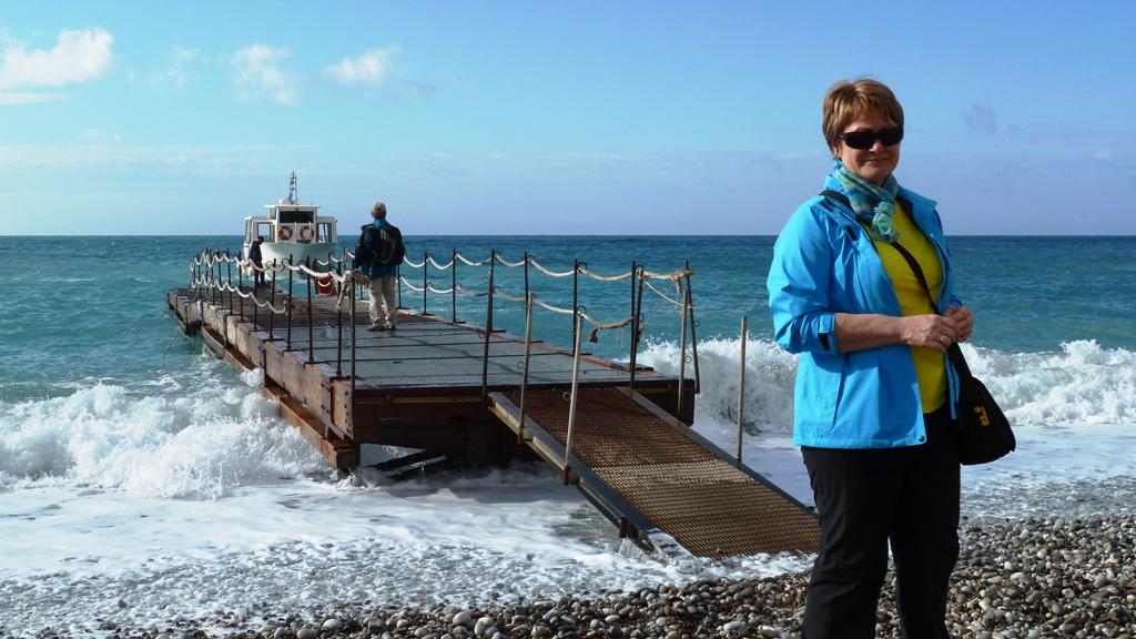 Unser Schiff legt an - es bringt uns nach Capri hinüber