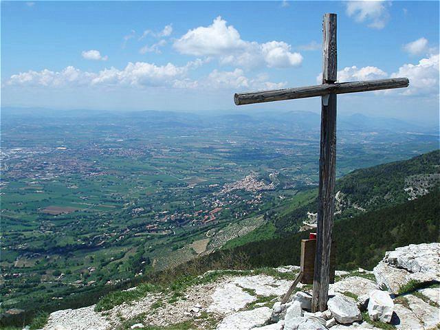 Monte Subasio- Blick zurück auf Assisi
