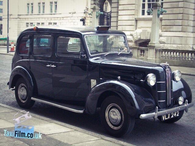 Black Austin FX3 Taxi 1958, Bolton ref A0202