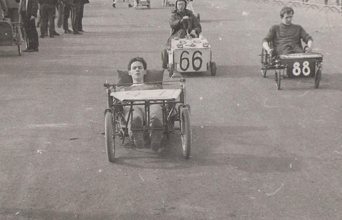 Pedal power at Nottingham University - Bristol Grand Prix 1968