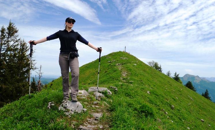 Die letzten Meter vor dem Gipfel