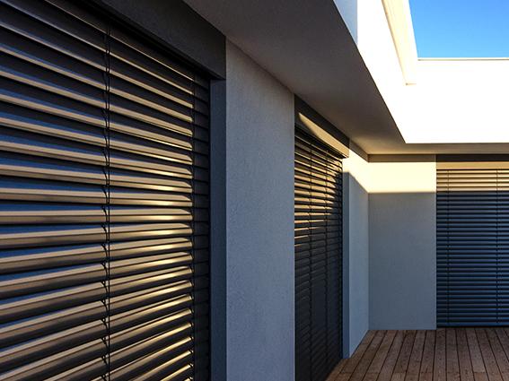 VENTAL - Brise soleil orientables à lames en C de Baumann Hüppe
