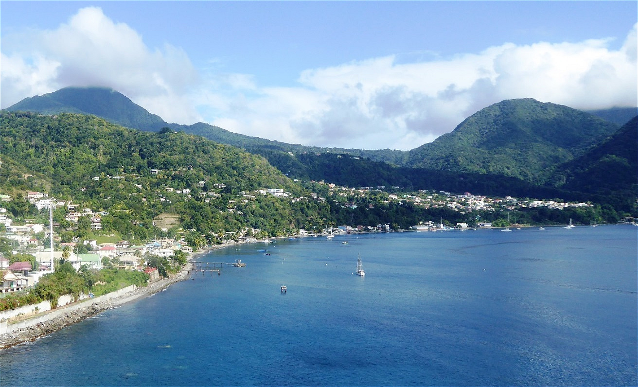 Letzter Blick auf die Küste Dominicas