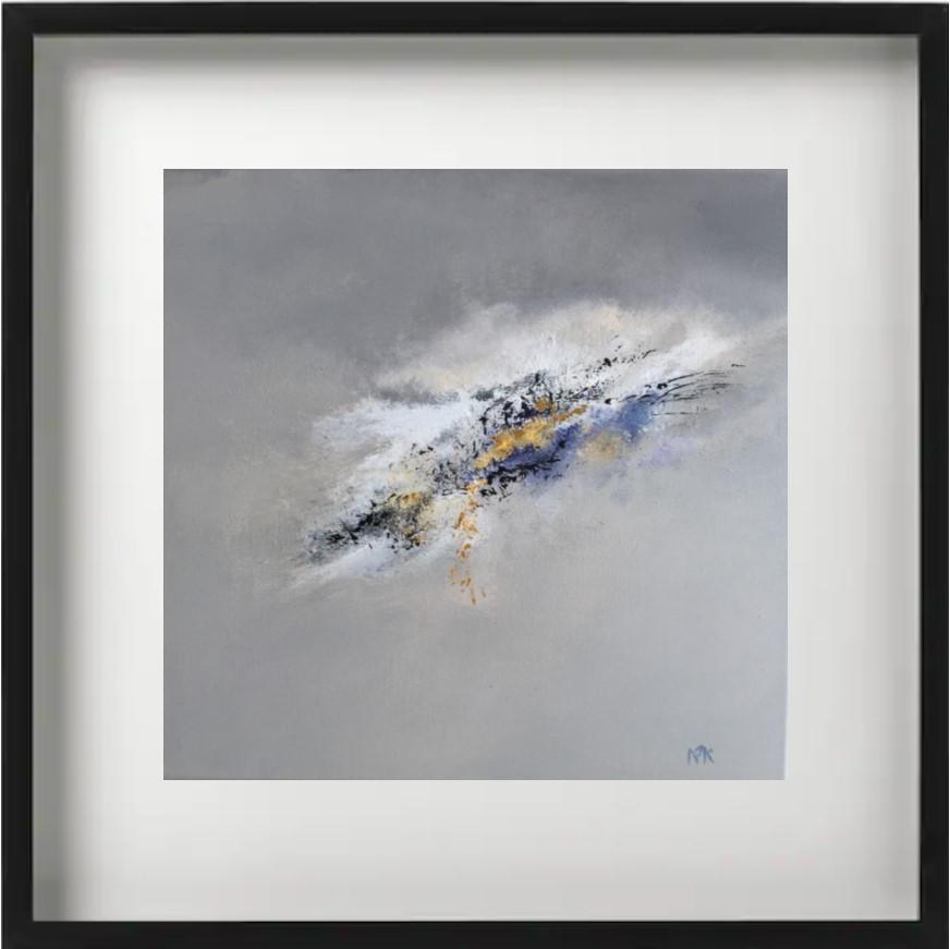 """""""Oracle"""" H40x40 cm - Framed 52x52 cm - Acrylic on canvas -"""