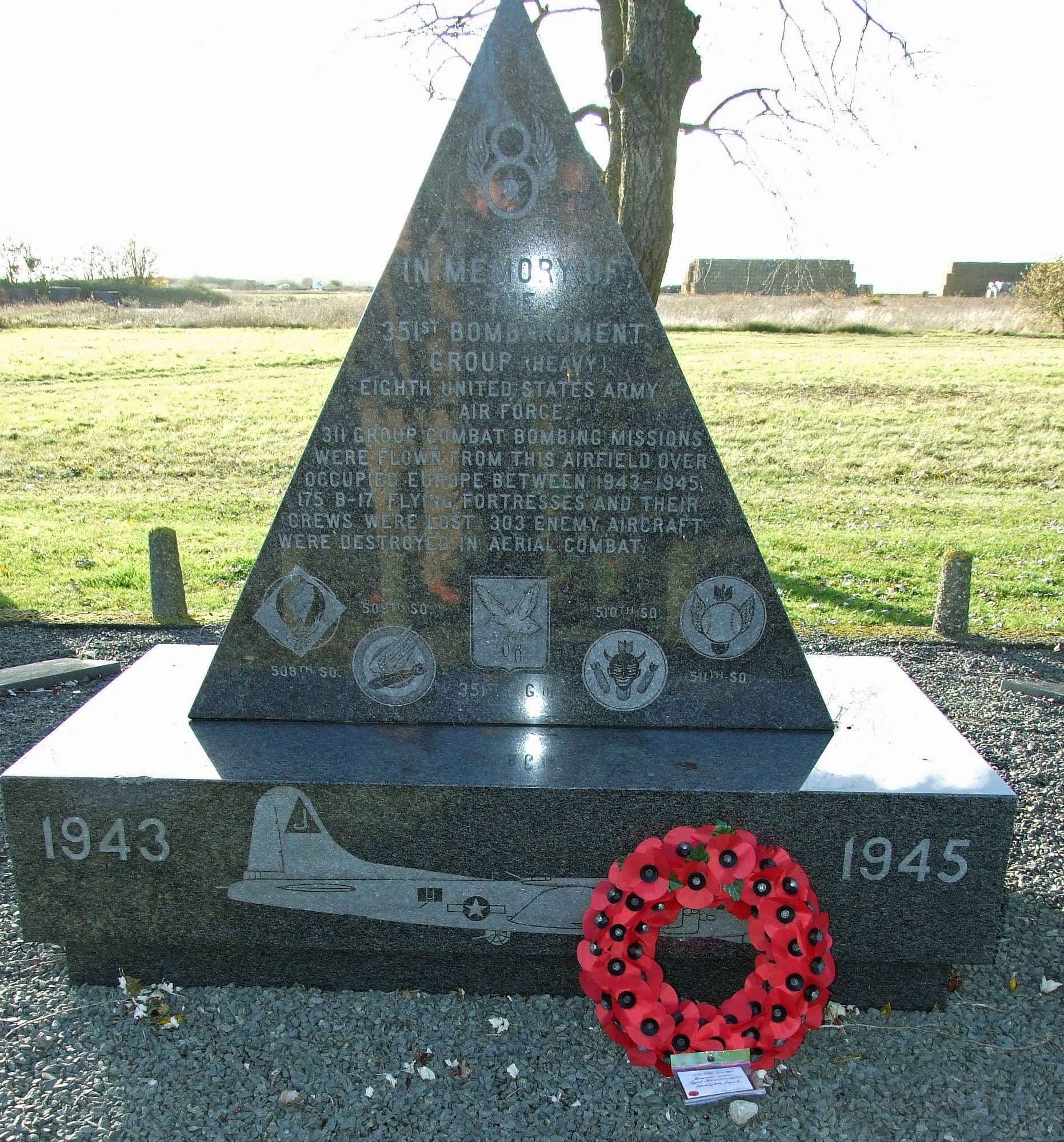 Memorial at Polebrook Airfield