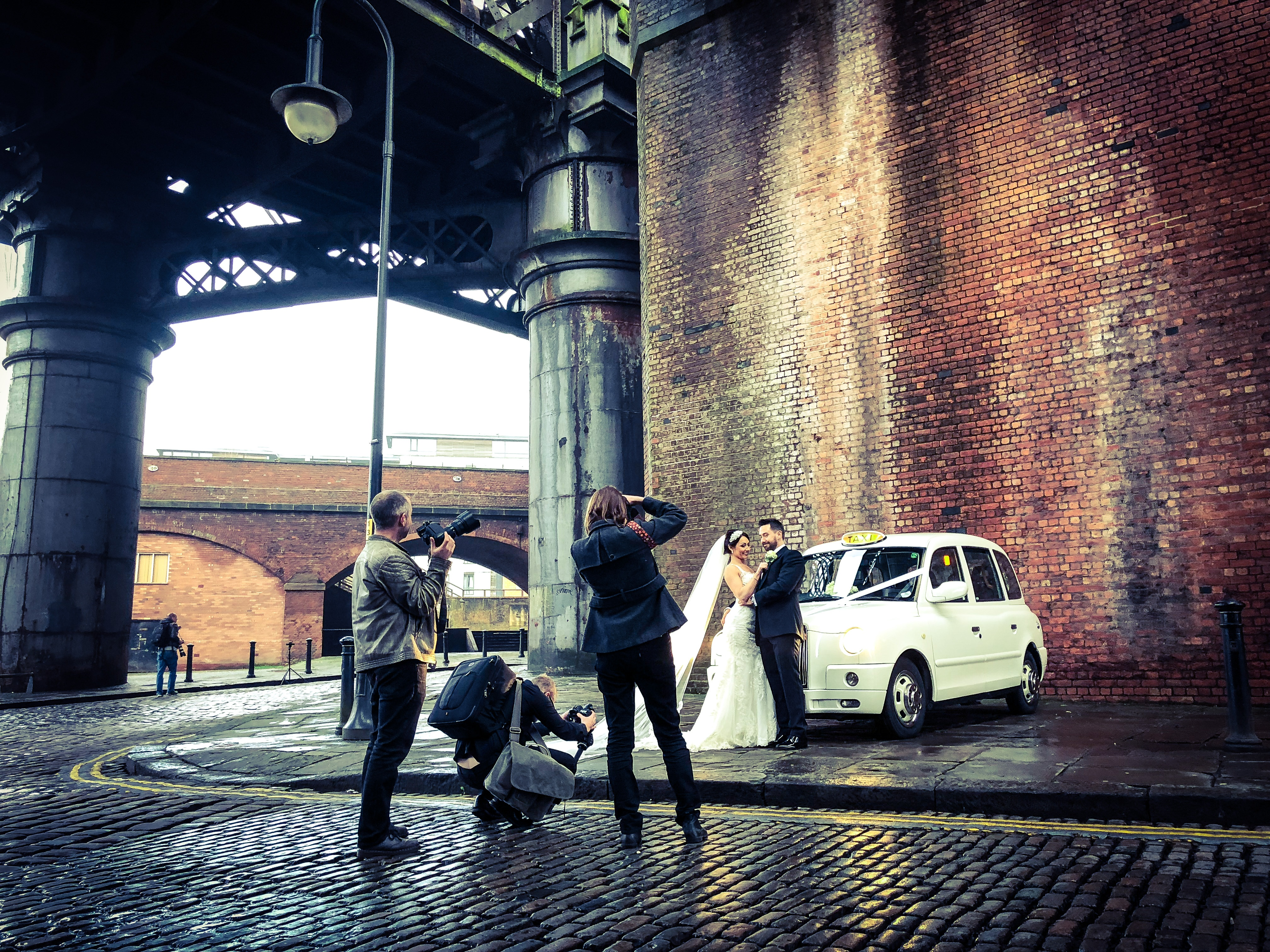 Castlefield manchester wedding taxi