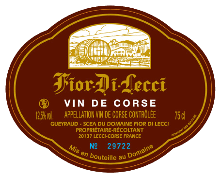 Cuvée standard vin corse Fior Di Lecci