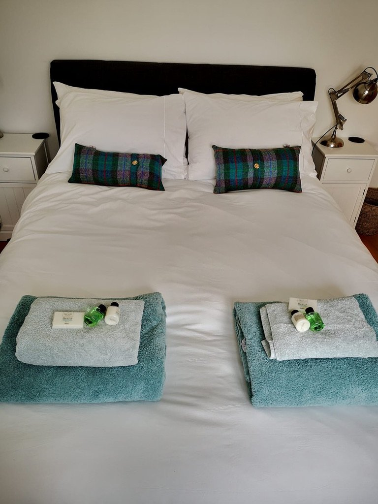 Double bed downstairs